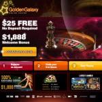 $25 no deposit bonus at Golden Galaxy Casino