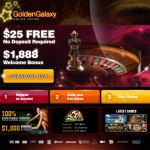 $25 no deposit bonus at Golden Galaxy Casino