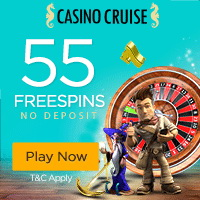 55 Free No Deposit Spins + Deposit Bonuses up to $300 at Casino Cruise