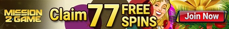 77 free spins at Mission2Game