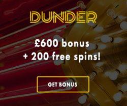 Dunder Casino free spins